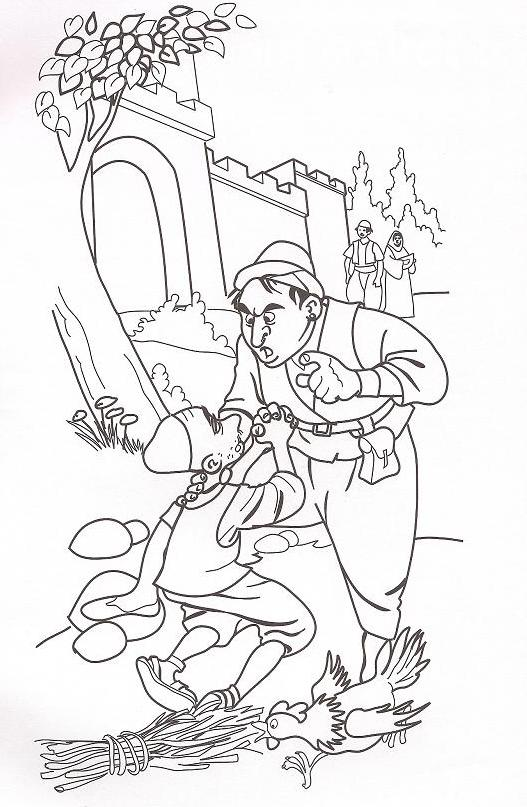 unmerciful servant coloring page parable unforgiving servant coloring page sketch coloring page