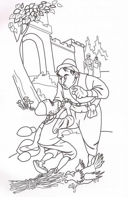 Parable unforgiving servant coloring page sketch coloring page for Parable of the unforgiving servant coloring page