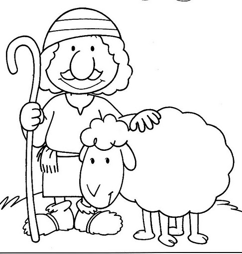 David And Sheep Page Coloring Pages