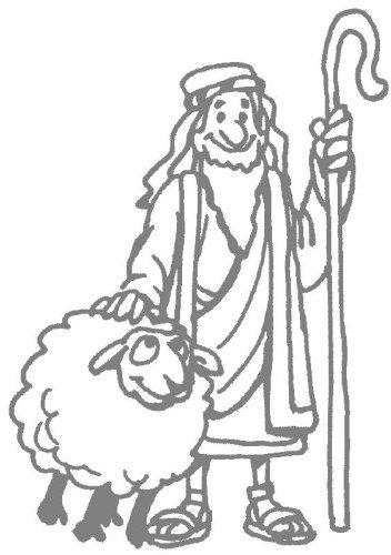 immagini pecorella smarrita da colorare