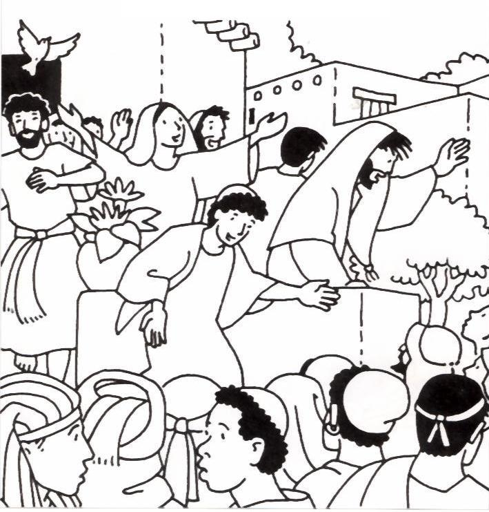 Pentecoste pentecoste cristiana for Pentecost coloring pages