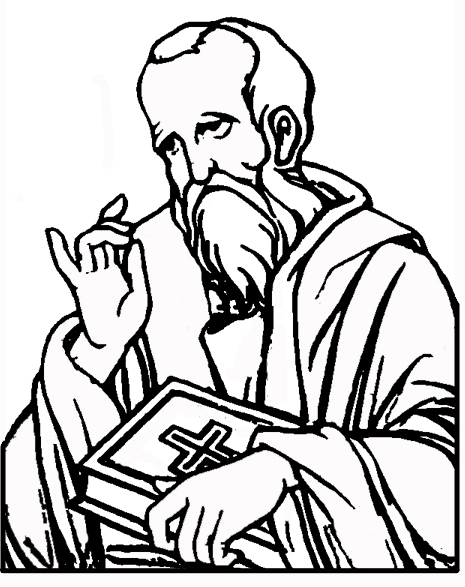 James The Disciple Coloring Page
