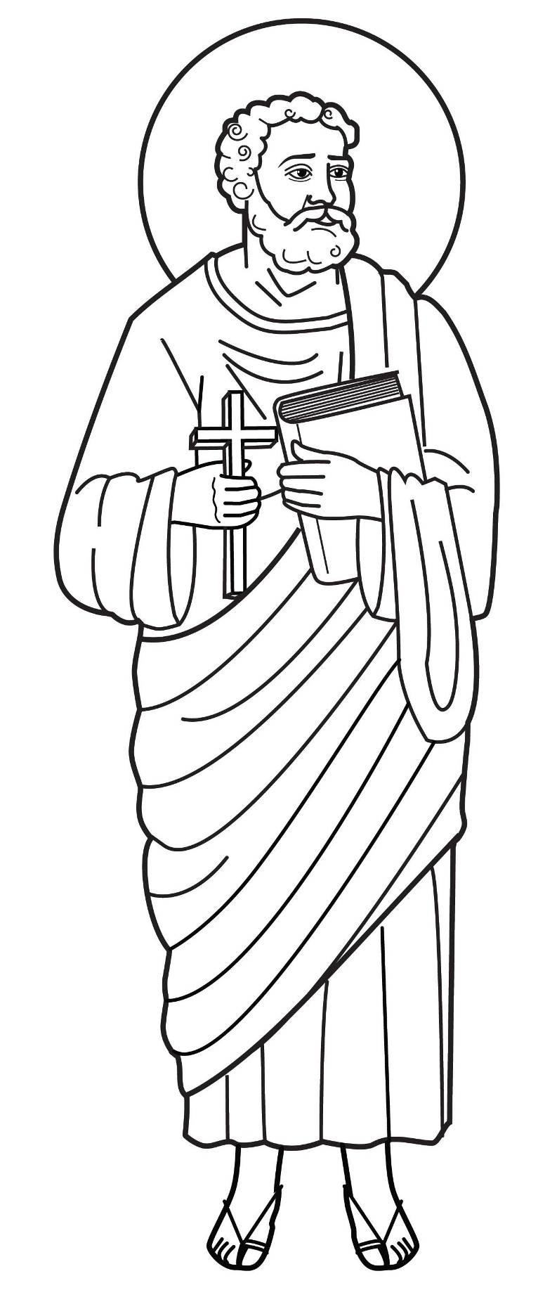 San pietro apostolo simon pietro apostolo pietro for Immagini di clown da colorare