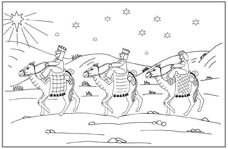 Kleurplaten Kerst De Wijzen.Kleurplaat Herders Kerst