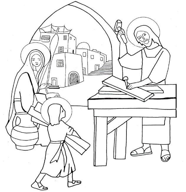 Sacra famiglia santa famiglia di ges for 12 year old jesus in the temple coloring page
