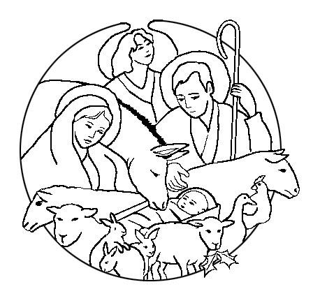 Sacra famiglia for Immagini sacre da colorare