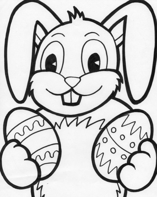 Coniglietto Di Pasqua Da Colorare