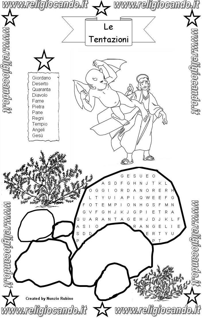 Tentazioni di ges cruciverba tentazioni di ges disegni for Crucipuzzle quaresima