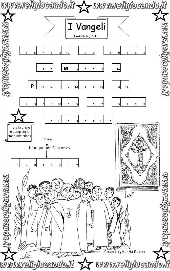 Vangeli ed evangelisti simboli dei vangeli for Crucipuzzle quaresima