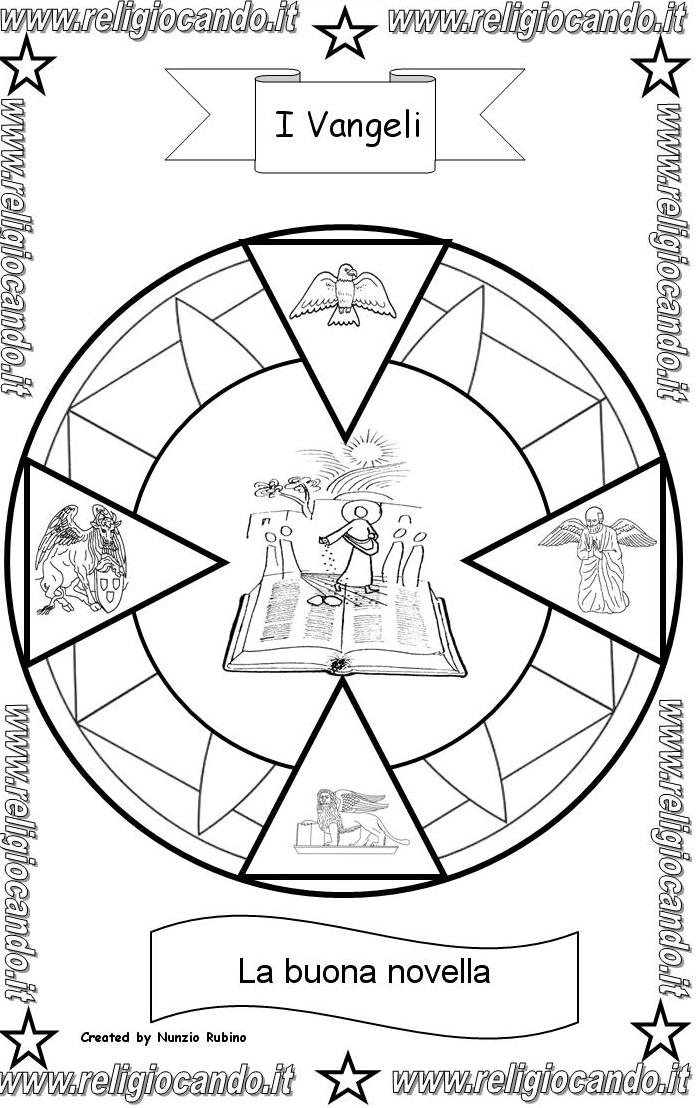 Vangeli ed evangelisti simboli dei vangeli - Giocare giochi da colorare gratis ...