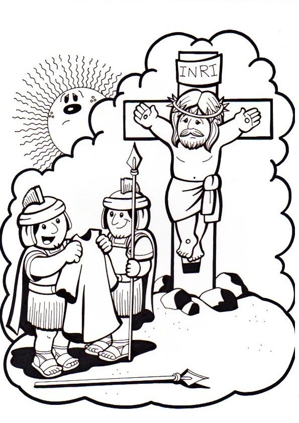 Vistoso Dibujo De Jesus Cross Para Colorear Adorno - Dibujos Para ...